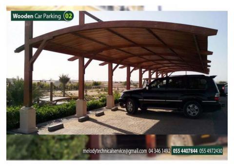 WPC Car Parking Shades in Abu Dhabi | Steel carport | Wooden Carport Dubai