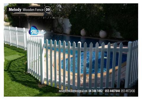 Wooden Fence Installation Dubai | garden Fence Suppliers UAE | Picket Fence