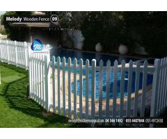 Wooden Fence Installation Dubai | garden Fence Suppliers UAE | Picket Fence