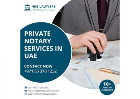 For Private Notary Services - Call Us