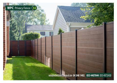 WPC Privacy Fence Supply with Installation UAE | WPC Wall Mounted Fence Dubai