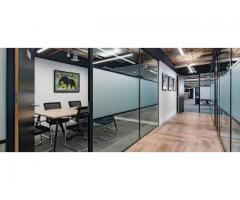 RENOVATE YOUR OFFICE WITH GLASS PARTITION, PARQUET FLOORING,CARPET AND BLINDS