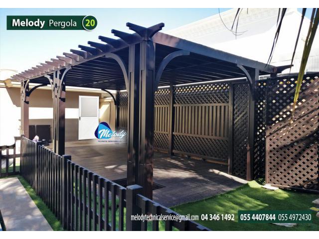 Wooden Pergola Project done at  Al Furjan, Arabian Ranches, Maydan, Jumeirah, Dubai, UAE.