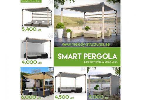 White Wood Pergola for Sale