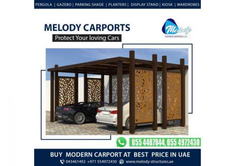 Wooden Car Parking Shades in Dubai | Car Parking Pergola in Dubai
