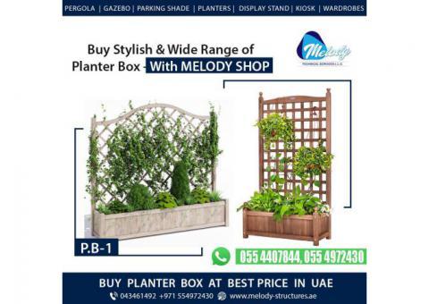 Wooden Planters in Dubai | Garden planters Box | Restaurant Planters in Dubai