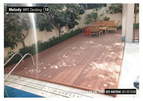 WPC Decking Supply and fixing in Sharjah | Composite wood decking/flooring Garden Area in UAE