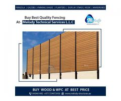 WPC Fence Suppliers in Dubai | WPC Privacy Fence in Al Barsha UAE | WPC Fence in Dubai