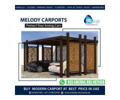 Steel Carports in Dubai   Wooden Carports Suppliers   WPC Car Parking Shades in Dubai