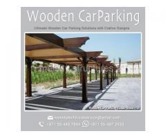 Wooden / Steel / Mashrabiya design Car Parking Shade suppliers in Dubai UAE