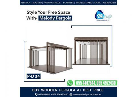 Creative Pergola | Pergola Design | Wooden Pergola in Dubai