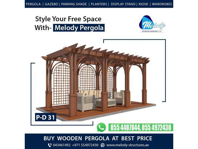 Creative Pergola   Pergola Design   Wooden Pergola in Dubai