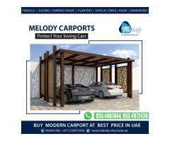 WPC & Aluminum Carports Suppliers in Dubai | Wooden Car Parking Shades