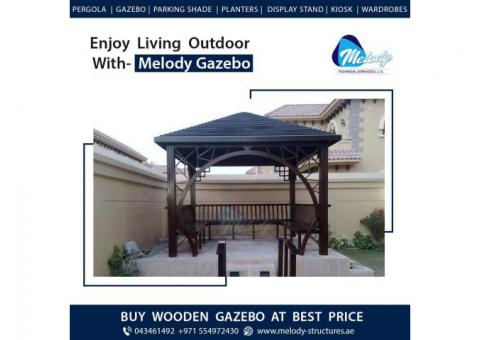 Wooden Roof Gazebo Suppliers in UAE | Gable Roof Gazebo | Gazebo in Dubai
