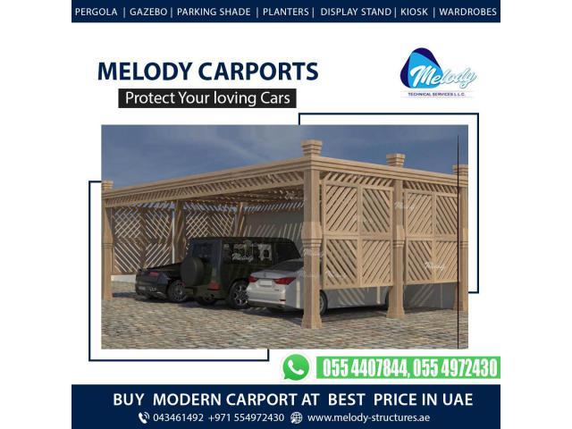 Car Parking Shade Suppliers in Dubai   Wooden & WPC Carports Suppliers in Dubai