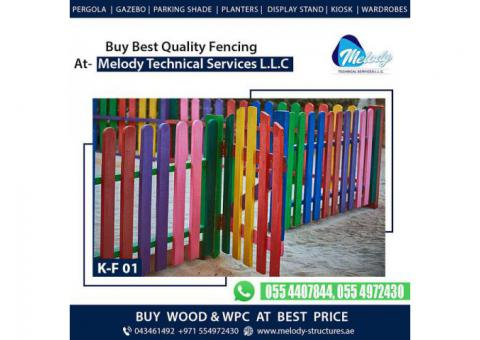 Kids Privacy Fence in Dubai | Kids Play Wooden Fence | Kids Fence Design in Dubai