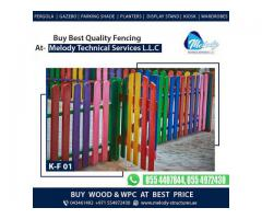 Kids Privacy Fence in Dubai   Kids Play Wooden Fence   Kids Fence Design in Dubai