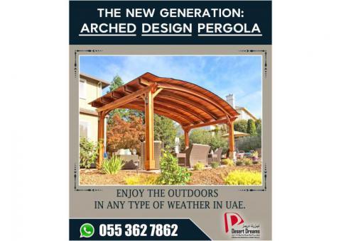New Generation Pergola Design in Uae | Wooden Pergola Dubai | Pergola Abu Dhabi.