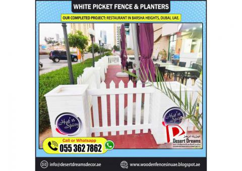 Kids Play Area Fence Abu Dhabi | White Picket Fences Abu Dhabi | Outdoor Fences Al Ain | UAE.