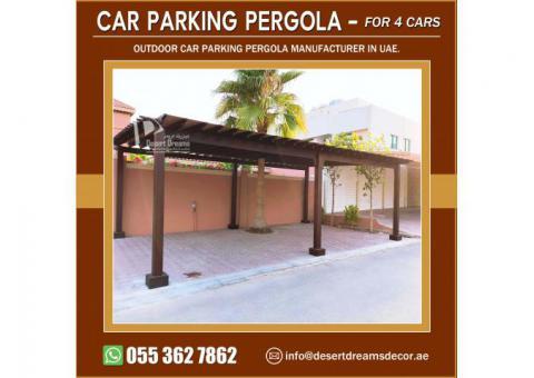Wooden Pergola Large Parking Area | Wooden Pergola Small Parking Area | Abu Dhabi.