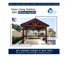 Wooden Roof Gazebo   Gable Roof Gazebo   Gazebo Suppliers in Dubai