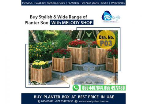 Planter Box For Dubai Restaurant | Wooden Planter Box | Planter Box Suppliers in Dubai