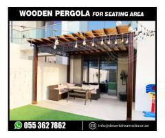 Wooden Pergola in Yac Acres Villa | Wooden Pergola Arabian Ranches Villas | Dubai | UAE.