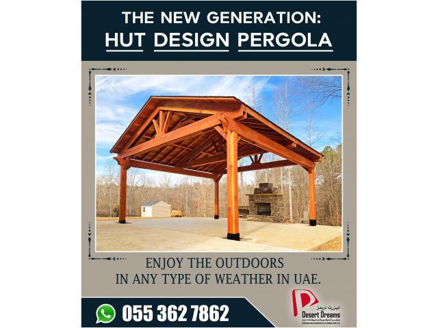 Wooden Pergola in Yac Acres Villa   Wooden Pergola Arabian Ranches Villas   Dubai   UAE.