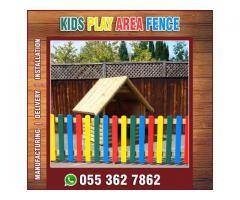 Pool Area Wooden Fences Uae | Nursery Kids Fences | Long Area Fences | Uae.