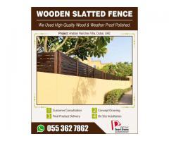 Wall Mounted Fences Arabian Ranches Villas | Wooden Slatted Fences Uae.