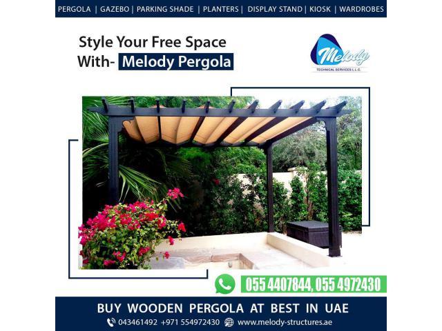 Pergola In Emirates Hills | Pergola Suppliers | Wooden Pergola Design in Dubai
