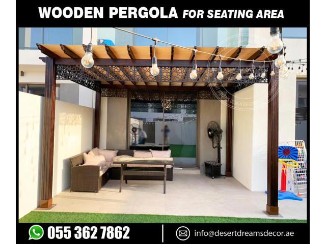 Hut Shape Wooden Pergola Uae | Arched Shape Pergola | Dubai | Abu Dhabi.