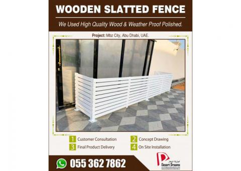 Wooden Slatted Fences in Dubai | Outdoor Fences | Wall Mounted Fences Uae.