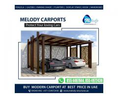 Best Car Parking Shades in Dubai | Buy Wooden Car parking Shades At lowest Price