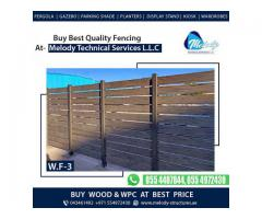 WPC Privacy Fence | WPC Garden Fence in Dubai | Composite Wood Fence UAE