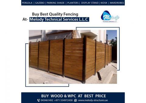 WPC Fence Supply and installation in Dubai Abu Dhabi Sharjah UAE