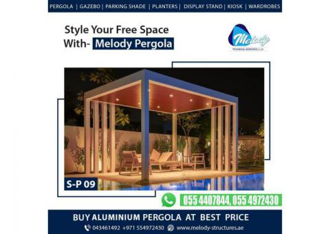 Aluminum Pergola Suppliers in Dubai   Aluminium Pergola Design in UAE