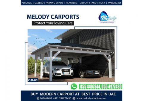 Aluminum & Wooden Car parking Shades   Car parking Shades Suppliers in UAE