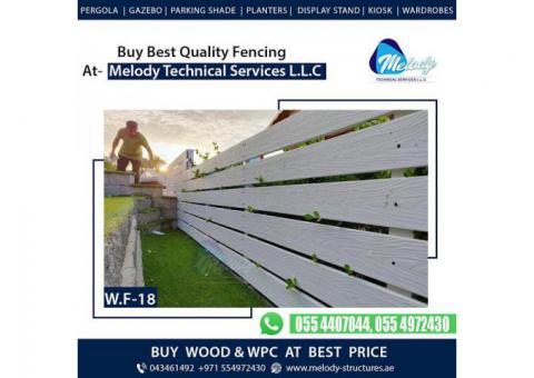 Picket Fence in Dubai   WPC Fence Suppliers in Dubai   Garden Fence in Dubai