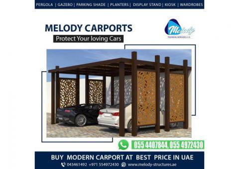 Wooden Car Parking Shade Suppliers | Car parking Shade in Dubai