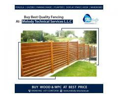 WPC Fence in Jumeirah | WPC Fence in Green community | WPC Fence Suppliers in Dubai