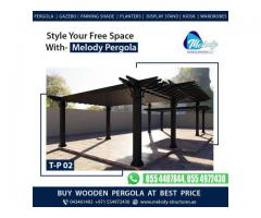 Customize Pergola in Dubai | Customization Wooden Pergola Manufacture in Dubai UAE