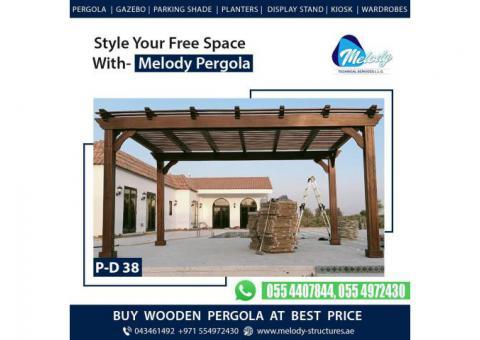 Pergola in Al Barsha | Pergola in Mudon | Wooden Pergola in Dubai Hill Estate