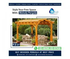 Wooden Pergola In Palm Jumeirah | Seating Area Pergola Arabian Ranches Dubai UAE