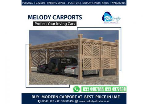 Aluminum Car Parking Shade | WPC And Wooden Car Parking Shade In Dubai