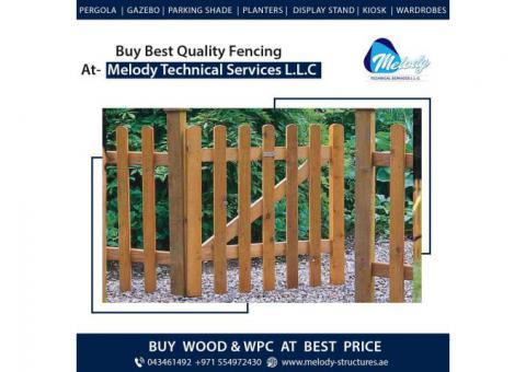 WPC Fence in Dubai | Wooden Fence in Dubai | Picket Fence in Dubai