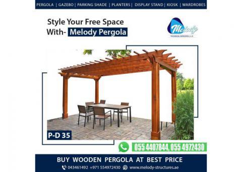 Swimming Pool Covered Pergola | Balcony Attaché Pergola | Garden Pergola Dubai, UAE