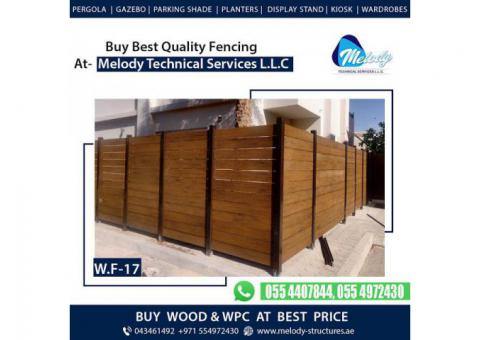 Wooden Fence | WPC Fence | Garden Fence Suppliers in Dubai